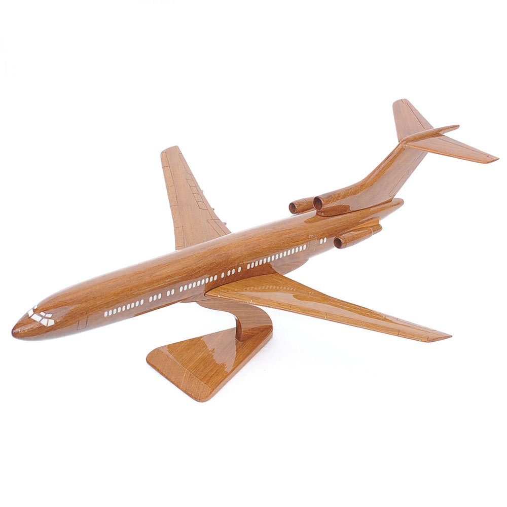 Boeing 727 Wooden Airplane Model Aircraft Lovers Mahogany
