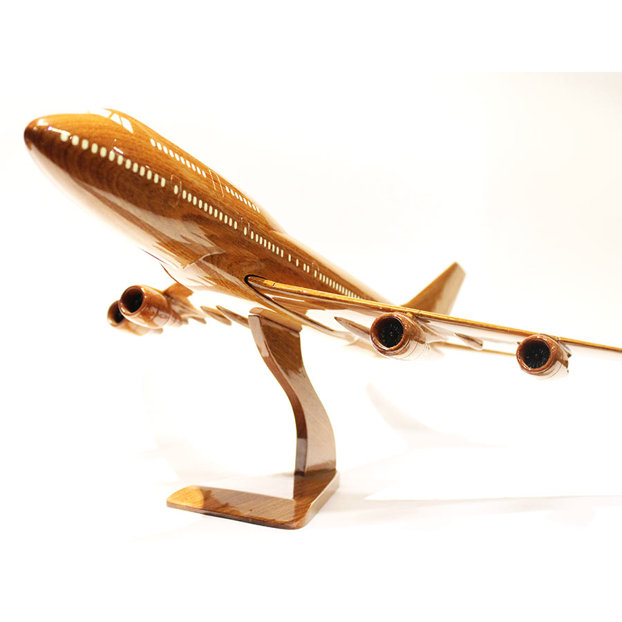 Boeing 747 Wooden Airplane Model Gift For Pilots B747