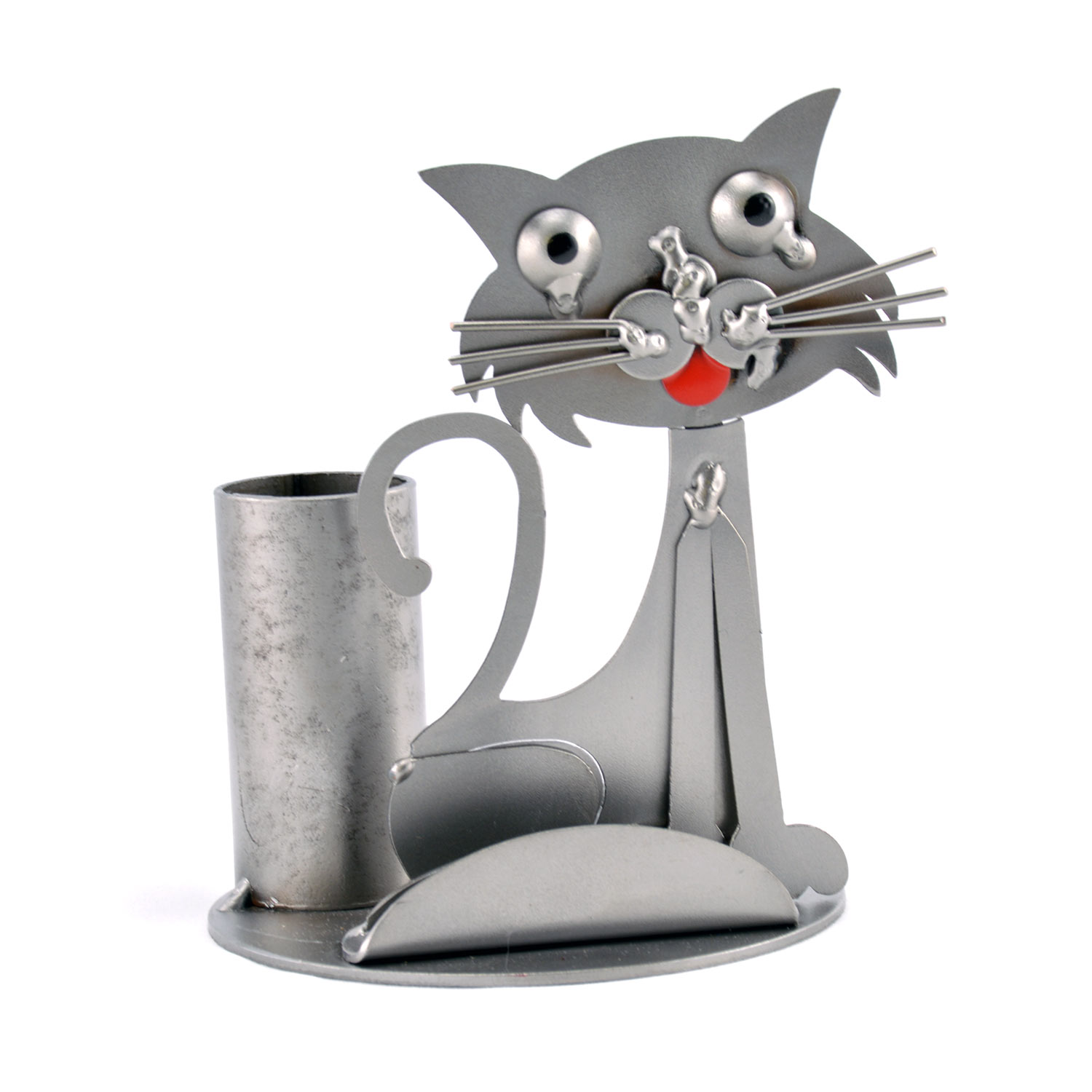 Cat business card holder metal cat business card holder colourmoves Choice Image