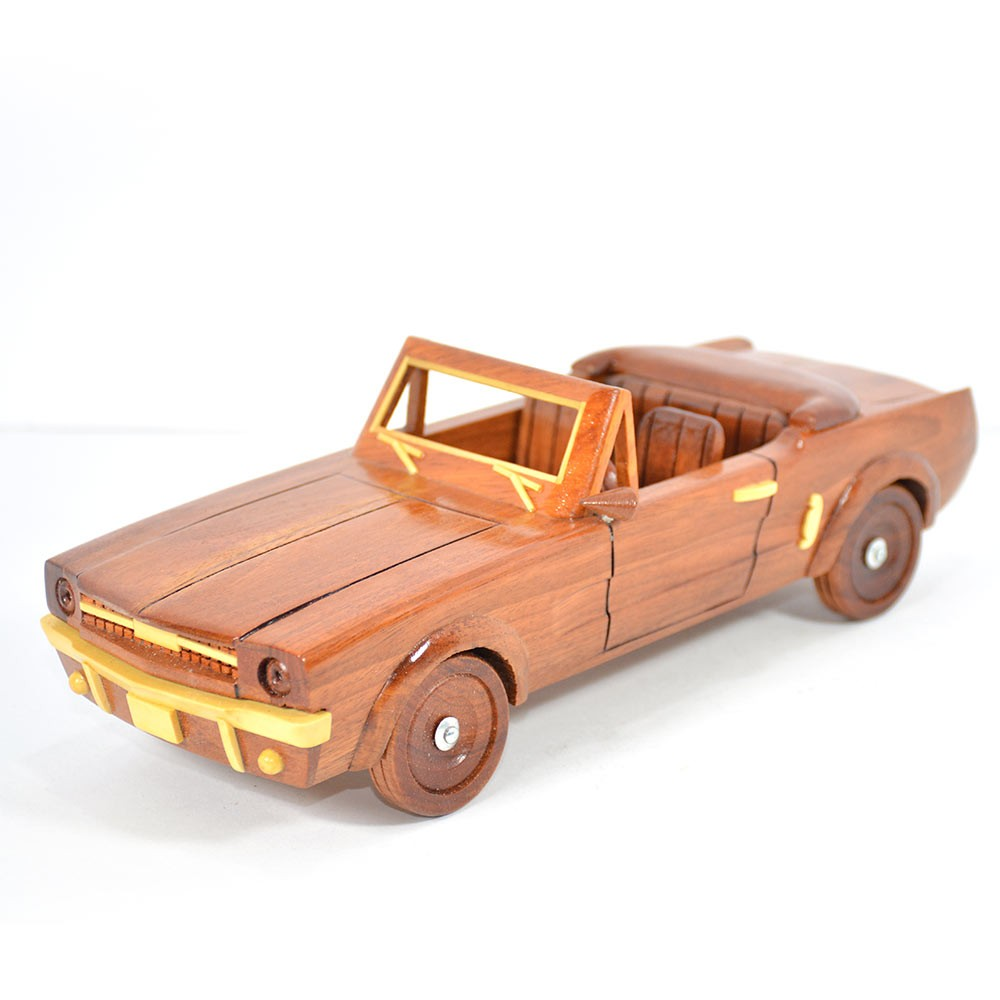 1964 1 2 19645 Ford Mustang Convertible Mahogany Wood Wooden Wooen Car Model