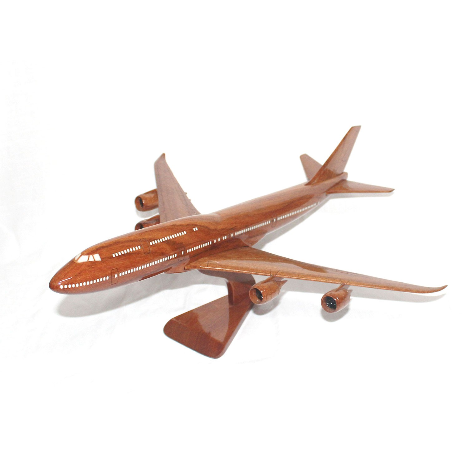 Collectables Original Boeing 747-400 Canadian Airlines Mahogany Handmade Wood Desktop Airplane Model Transportation Collectables