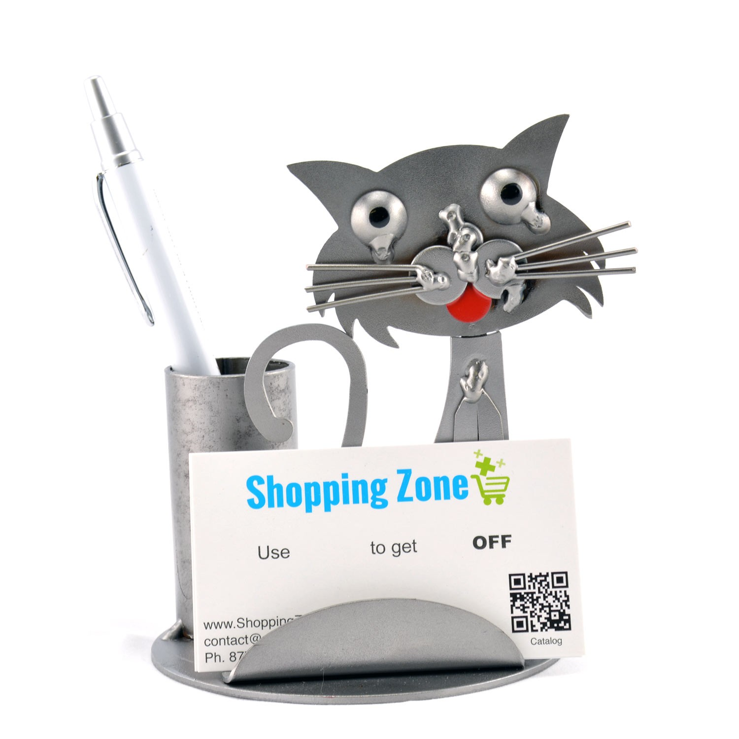 Cat business card holder metal card holder display gallery item 1 cat business card holder display gallery item 2 reheart Images