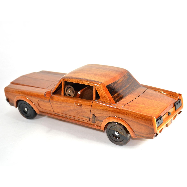 Ford mustang 1964 mahogany wooden model car