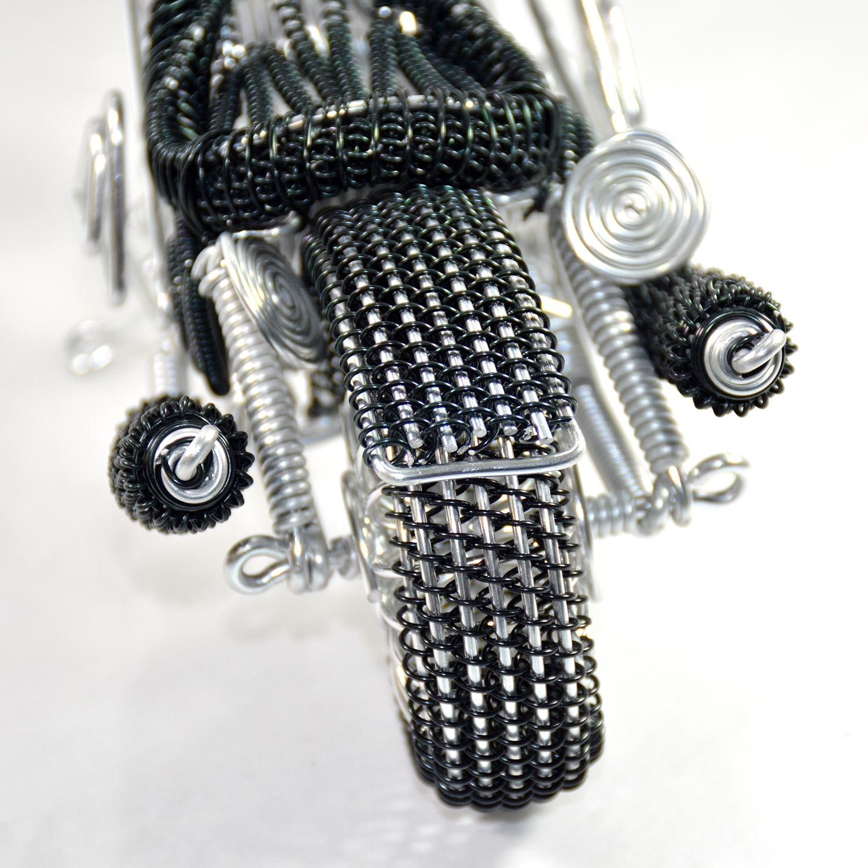 Harley-Davidson Motorcycle Model sculpture Wire Art Wire-Braided ...