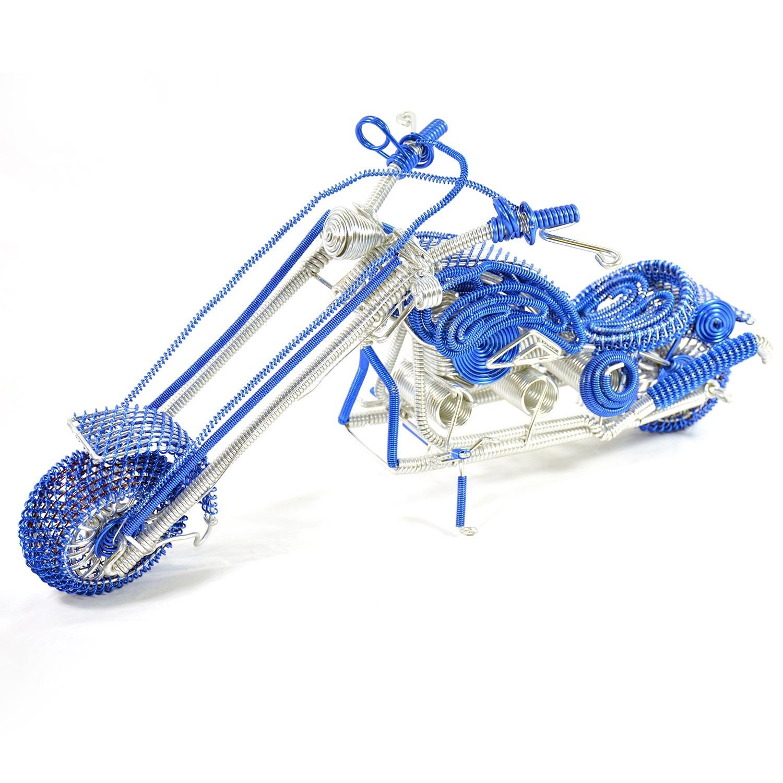 Harley-Davidson Wire Art Motorcycle Model Sculpture - Blue