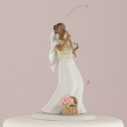 f4d456ea4a Catch Of The Day Bride And Groom Cake Topper | Wedding Cake Topper