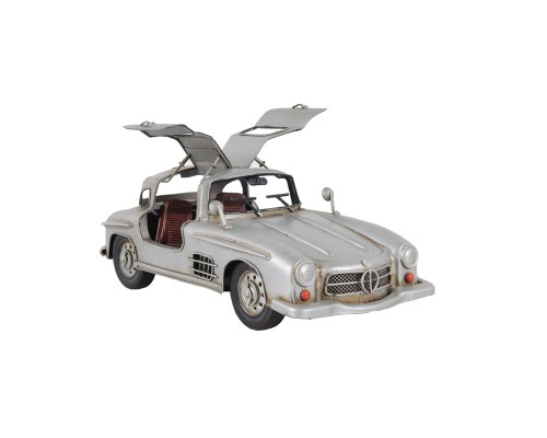 Mercedes Benz 300L Gullwing Silver Car Model