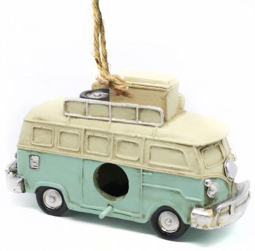 Hanging Volkswagen Van Birdhouse - Volkswagen Van Garden Decor