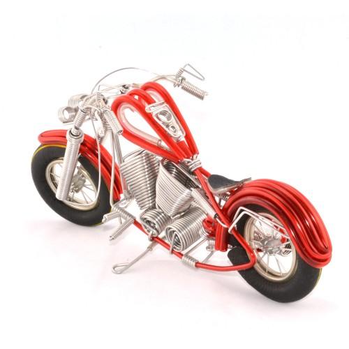 Wire Art Motorcycle Red - Handmade Aluminium Wire Art Sculpture