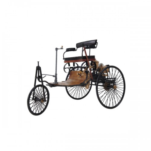 Handcrafted Iron frame 1886 Yellow & Black Benz Car