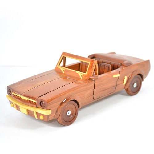 1964 1/2 1964.5 Ford Mustang Convertible Mahogany Wooen Car Model