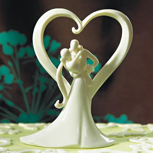 Stylish Embrace Traditional Figurine / Wedding Cake Topper