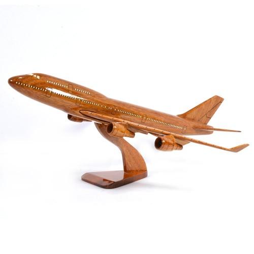 Boeing 747 wooden scale model