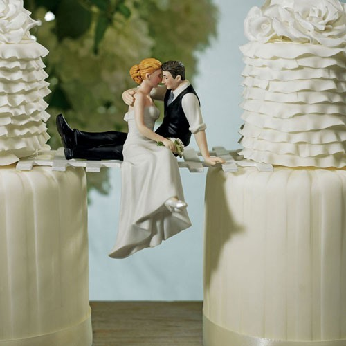 The Look Of Love - Bride And Groom Couple Figurine