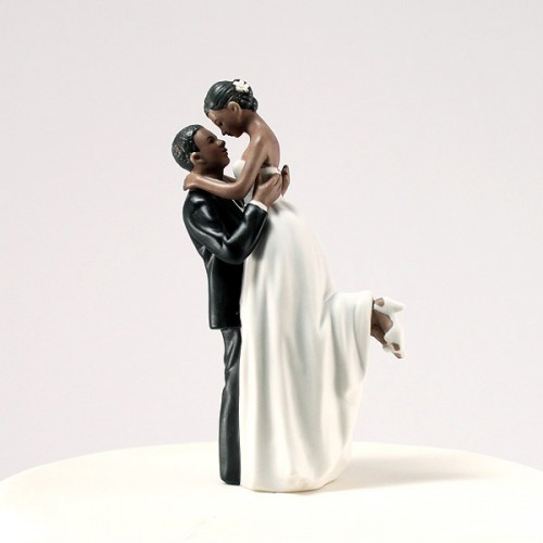 True Romance Couple Figurine Unique Wedding Cake Topper
