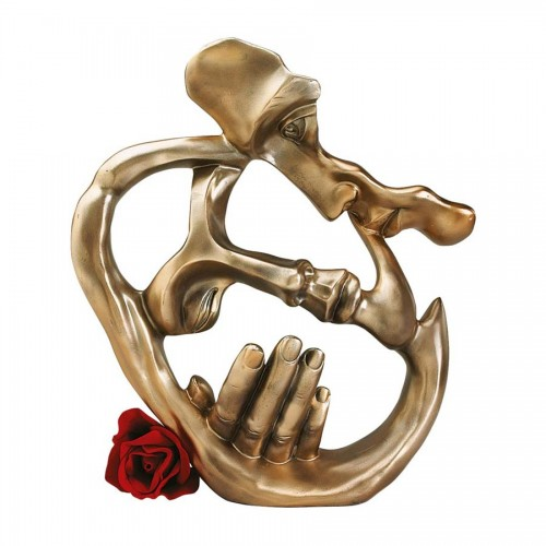 Lovers Kiss  is a great unique gift for Art Deco Statues lovers