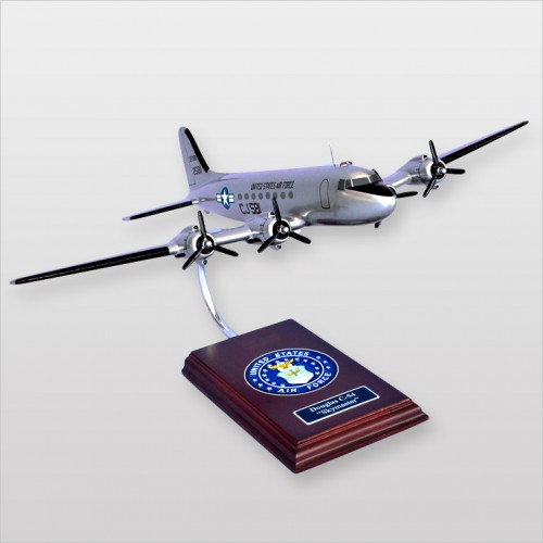 Curtiss C-54 Skymaster Model Scale:1/72. Mahogany wooden model