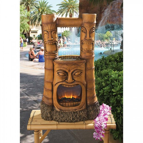 Ordinaire Tiki Gods Of Fire And Water Fountain