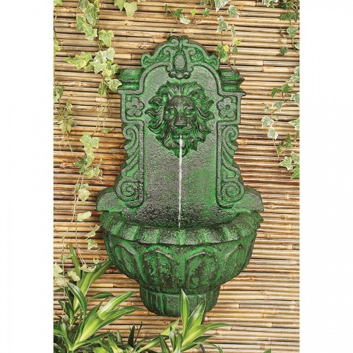 Casa Del Lago Lion Head Wall Niche Fountain
