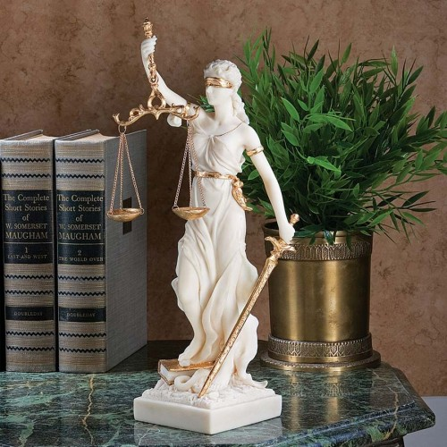 Themis, Blind Justice Bonded Marble Statue is a great unique gift for Marble Statues lovers - Lady Justice