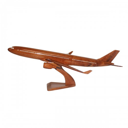 Airbus A330 Wooden Airplane | A330 Mahogany Wooden Model