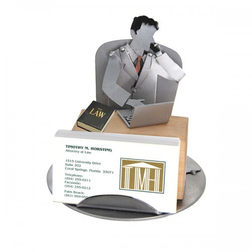 Attorney Male Business Card Holder