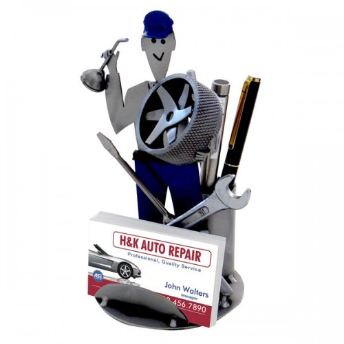 Auto Mechanic Pen Holder & Business Card Holder
