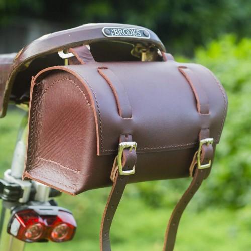Bicycle Bag Saddle Handlebar Frame Bag - Cherry Brown Classic Bag
