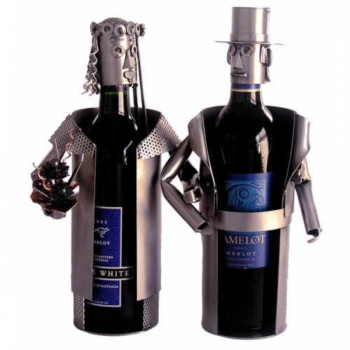 Bride & Groom Wine Bottle Holder