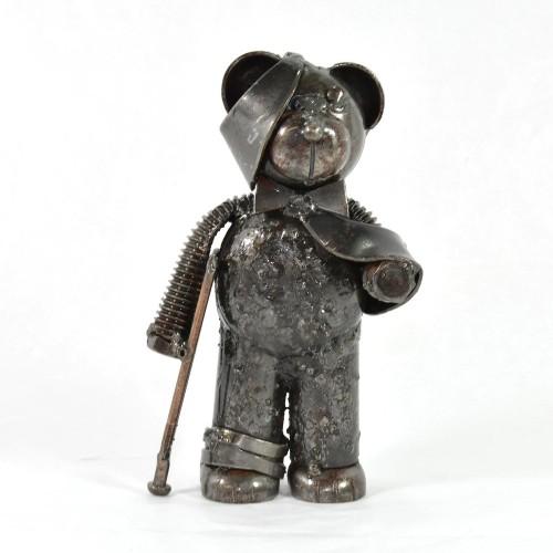 Bumbling Bear metal sculpture | Get Well Soon Gift