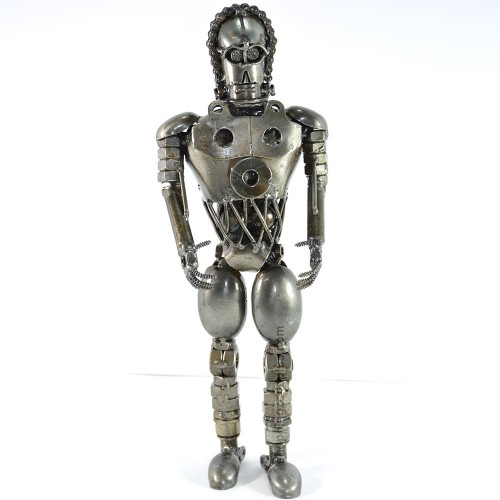C-3PO (SEE-THREEPIO) Star Wars Scrap Metal Sculpture Handmade Art