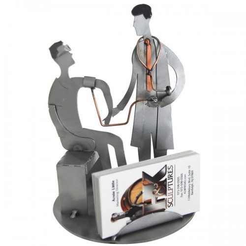 Doctor (male) with Patient Business Card Holder