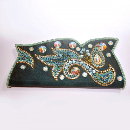 Embroidered Clutch Purse for Women - Red