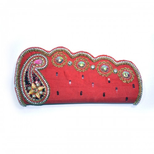 Buy Embroidered Clutch Purse for Women Red