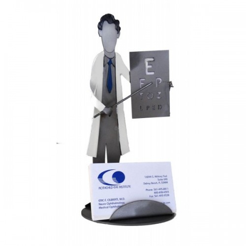 Desk Accessory Doctor Eye Business Card Holder