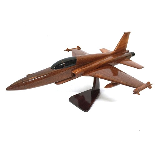 F-16 Falcon Fighter Aircraft Wooden Model