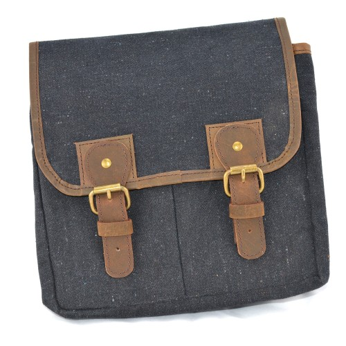Bicycle Canvas Bag - Handlebar Handcrafted Waxed Canvas + Leather