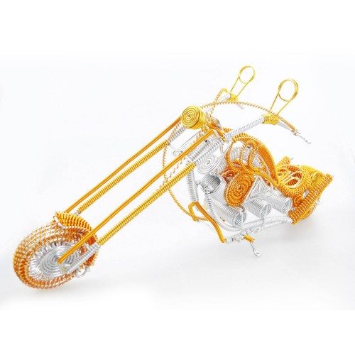 Harley-Davidson Wire Art Motorcycle Model - Gold