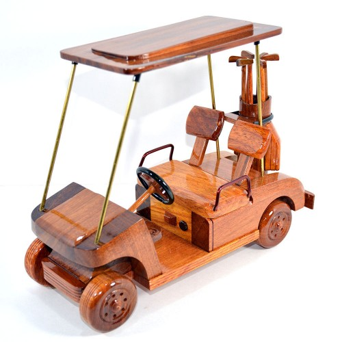 Wooden Golf Cart Mahogany : Gift for Golf lovers
