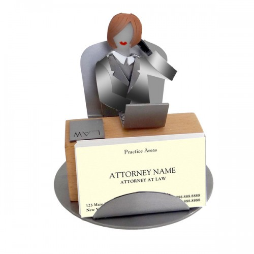 Attorney Female Business Card Holder