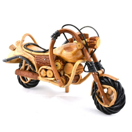 Wooden Cruiser Motorcycle Model - Handmade