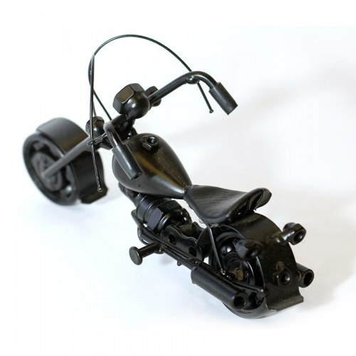 Harley Davidson : Motorcycle Model 18cm Metal Sculpture - Black Small