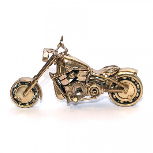 Harley Fatboy : Motorcycle Model 30cm Metal Sculpture