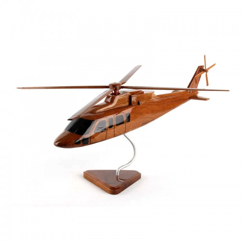 Sikorsky S-76 Natural Mohogany Wood