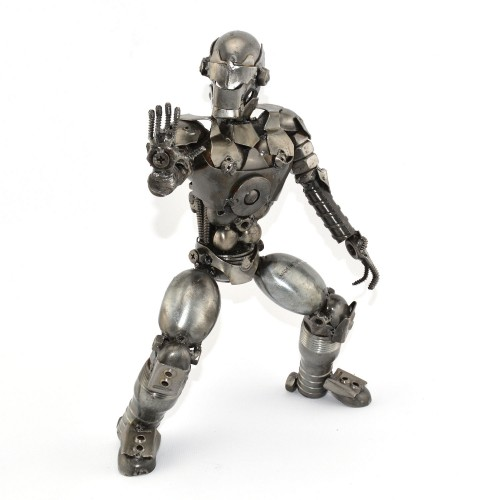 Robot Standing Metal Sculpture / Model - Look Alike Iron Man