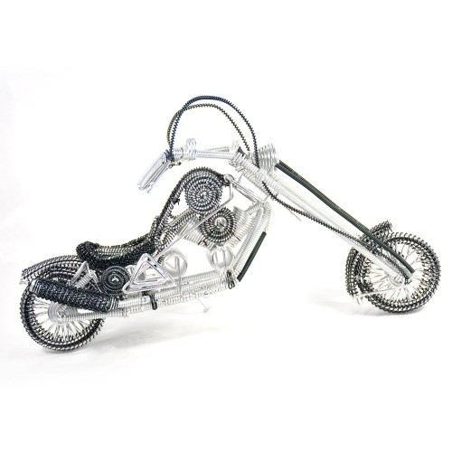 Harley-Davidson, Aluminium Wire Art Sculpture Motorcycle handmade miniature