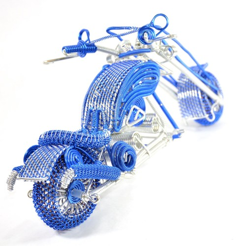 Harley-Davidson Wire Art Motorcycle Model - Blue
