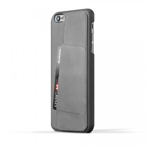 Leather Wallet Case 80° for iPhone 6(s) Plus - Gray