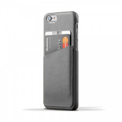 Leather Wallet Case for iPhone 6(s) - Gray Color