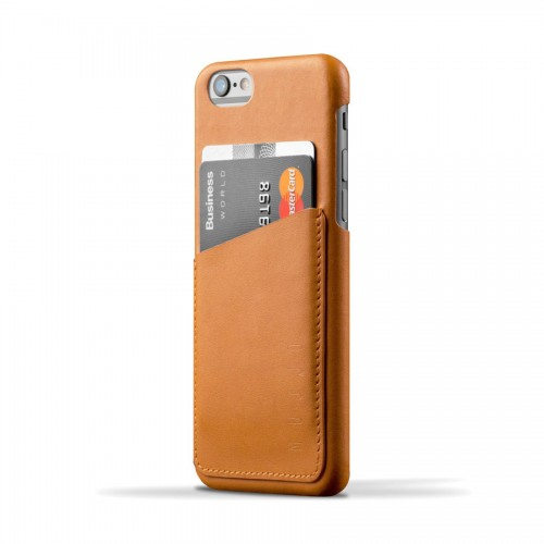 Leather Wallet Case for iPhone 6(s) - Tan